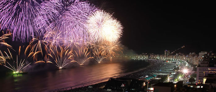 Rio Fireworks on CopaCabana
