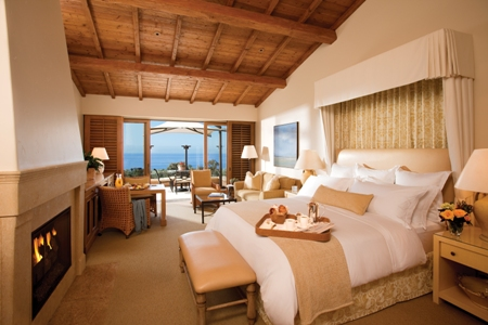 Bedroom at Pelican Hill